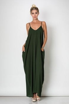 Inance Side Pocket Maxi Dress- 2 colors