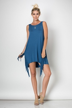 Inance Fringe Tunic Dress/Top Made In the USA - 2 Colors