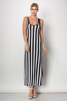 Inance Go Faster Striped Maxi Dress - Made In The USA