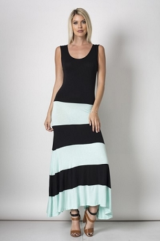 Inance Lucky Stripe Maxi Dress,New,Made In USA