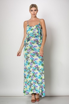 Inance I Dream in Watercolor Maxi Dress - Made In The USA
