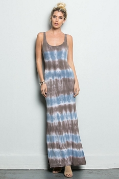 Inance Tie-Dye Temptress Maxi Dress - Made In The USA- 2 Color Choices