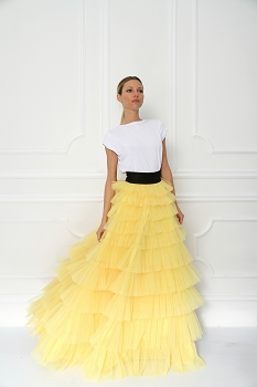 Disney + Sugarbird Designs Exclusive for Inance Beauty and the Beast Layered Ruffle Maxi Skirt
