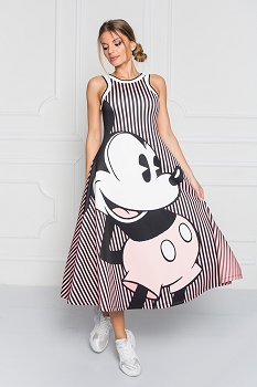 Disney - Sugarbird Designs Exclusive for Inance Mickey Mouse Sleeveless Maxi Dress