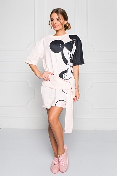 Disney - Sugarbird Designs Exclusive for Inance Mickey & Minnie Sweatshirt Dress