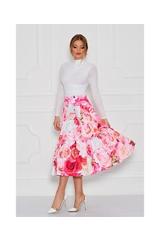 Disney + Sugarbird Designs Exclusive for Inance Beauty and the Beast Pink Roses Skirt