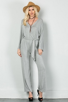 Inance In Love with This City Jumpsuit - Urban Chic Gray or Wine - Made In The USA