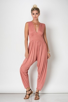 Inance My Secret Love  Jumpsuit - Rosy Cheek Blush or Noir - Made In The USA