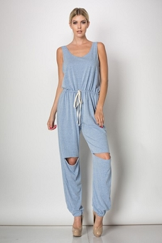 Inance Get Down with Me Jumpsuit - Urban Blue - Made In The USA
