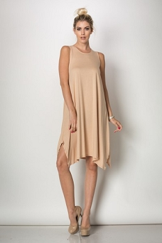 Inance Architectural Digest Dress - Frothy Coffee Cream - Made In The USA
