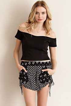 Smazy by Inance Diamond Tie Side Shorts