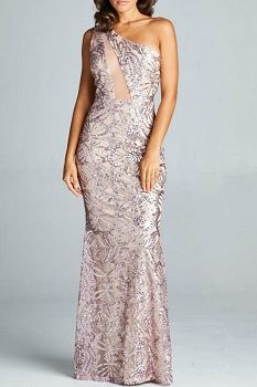 Inance Sequined Gown, Made In The USA