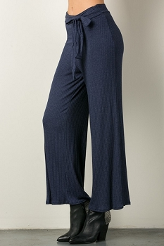 Inance Ribbed Kickback & Relax Pants - Midnight Delight - Made In The USA