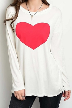 Smazy by Inance Love Graphic Heart Shirt Top
