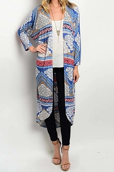 Smazy by Inance Kimono Print Long Cardigan - 2 Color Choices