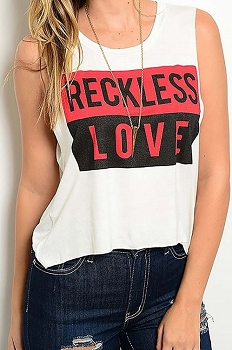 Smazy by Inance Reckless Love Sleeveless Top