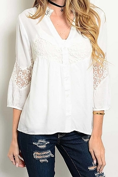 Smazy by Inance Loose Fit Lace Top