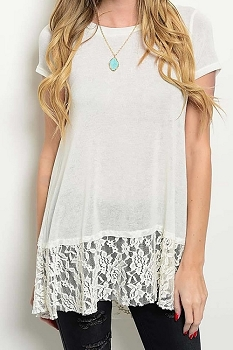 Smazy by Inance Lace Detail Tunic Top