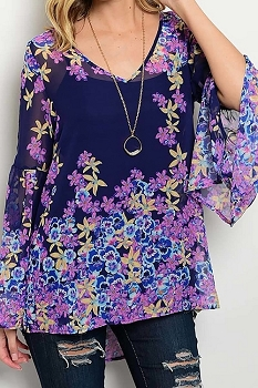 Smazy by Inance Floral Print Top