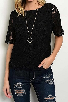 Smazy by Inance Lace Trim Top