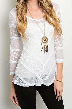 Smazy by Inance Angel in White Lace Top