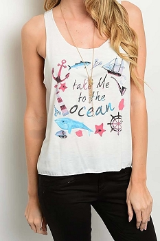 Smazy by Inance Take Me To the Ocean Top - 2 Color Choices