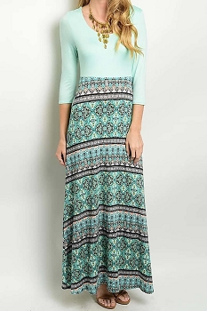 Smazy by Inance Geo Print Maxi Dress