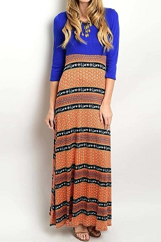 Smazy by Inance Print Maxi Dress