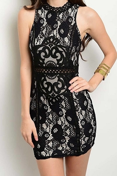 Smazy by Inance Lace Lined Bodycon Dress