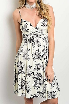 Smazy by Inance Floral Print Flair Dress