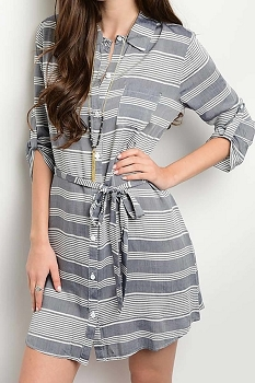 Smazy by Inance Button Down Wrap Dress