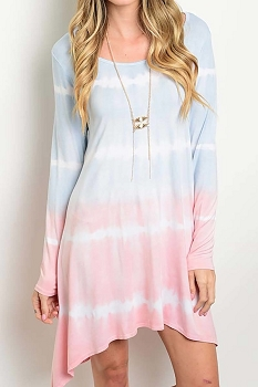 Smazy by Inance Tie Dye Loose Fit Dress - 2 Color Choices