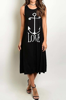 Smazy by Inance Anchor Love Loose Fit Midi Dress - 2 Color Choices