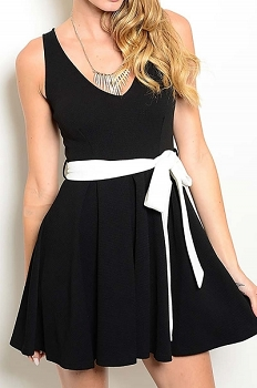 Smazy by Inance Tie Detail Dress - 2 Color Choices