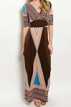 Smazy by Inance Multi Color Print Maxi Dress