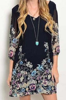 Smazy by Inance Floral Open Back Dress - 2 Color Choices