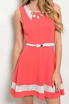 Smazy by Inance Lace Trim Dress - 2 Color Choices