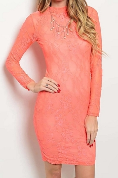 Smazy by Inance Full Lace Cut Out Back Bodycon Dress