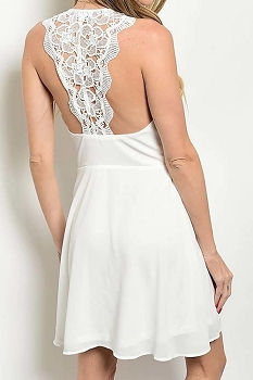 Smazy by Inance Sleeveless Crochet Back Dress - 2 Color Choices