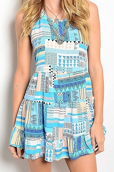 Smazy by Inance Fit & Flair Multi Color Dress