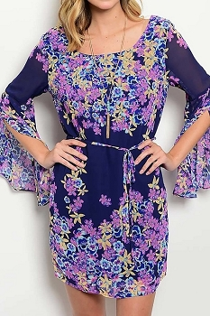 Smazy by Inance Floral Print Loose Fit Dress