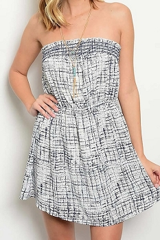 Smazy by Inance Print Elastic Waist Dress