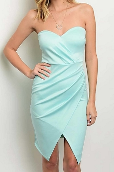 Smazy by Inance Strapless Wrap Dress