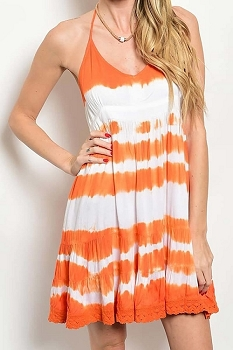 Smazy by Inance Tie Dye Detail Loose Fit Dress