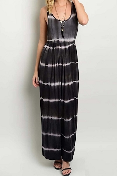 Smazy by Inance Tie Dye Elastic Waist Maxi Dress - 2 Color Choices