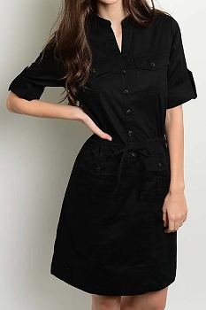 Smazy by Inance Pocket Detail Button Down Dress