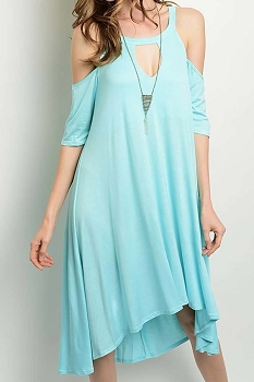 Smazy by Inance Loose Fit Open Shoulder Keyhole Dress