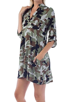 Smazy by Inance Camo Print Pocket Dress