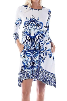 Smazy by Inance Geo Print Flair Dress