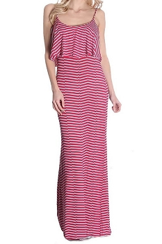 Smazy by Inance Tiered Spaghetti Strip Maxi Dress